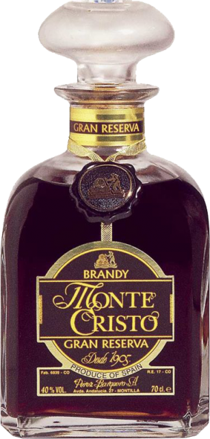 Brandy: Monte Cristo Gran Res. (Oloroso) Woodbox - 0,7 lt.